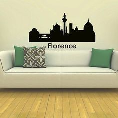 WALL DECAL VINYL STICKER FLORENCE SKYLINE CITY SILHOUETTE DECOR SB111