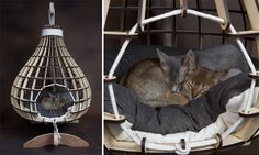 KittiCraft Modern Cat Beds, Scratchers, and Perches