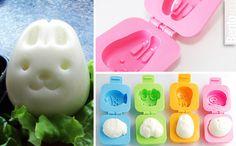 Só os japoneses mesmo para inventar um negócio desses: moldes para fazer ovos cozidos com carinhas de bicho.
