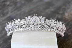 Tiara Silver Bridal Tiara Wedding Tiara por EdenLuxeBridal en Etsy