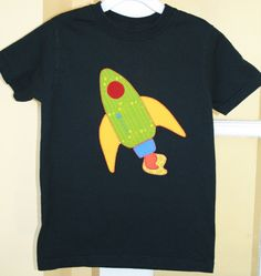 RESERVED LISTING  Set of 4 Custom Appliqued Rocket by WetBagIt, $67.96