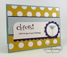Happy Hour! by Cindy Hall - Cards and Paper Crafts at Splitcoaststampers    Love the colors - great card !
