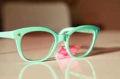 I got some skin friends who could totally rock these vintage Wayfarer Sunglasses Turquoise/ Chrome/ Light by gpnexxus, $28.99