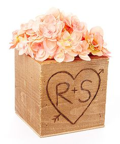 Another great find on #zulily! Walnut Small Initial Planter Box #zulilyfinds
