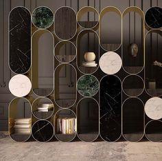 Good design is true. Partition Screen, Partition Design, Divider Screen, Wall Decor Design, Shelf Design, Architecture Restaurant, Interior Architecture, Furniture Inspiration, Interior Inspiration