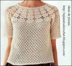 Fabulous Crochet a Little Black Crochet Dress Ideas. Georgeous Crochet a Little Black Crochet Dress Ideas. Pull Crochet, Crochet Yoke, Crochet Shirt, Crochet Cardigan, Easy Crochet, Crochet Stitches, Crochet Bodycon Dresses, Black Crochet Dress, Knitting Patterns