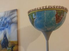 Floor lamp with a half globe