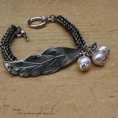 Bracelet Iron Feather II - via @Craftsy