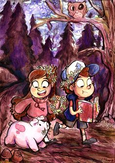 Gravity Falls Watercolor by sharpie91 on deviantART