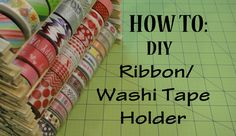 Make your own Washi Tape Holder for only $2! Super easy to make and holds Ribbon perfectly as well. Customize the shelf by using colored clothes pins or spra...