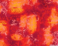 Bursting With Color - Jeweled Abstract - Persimmon