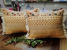 Capas de travesseiro em patchwork