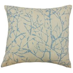 Snuggle up and put this geometric pillow to your living space. This throw pillow comes with an on-trend blue hue on a natural background. Pair this with an equally stylish decor piece from our wide selection of home accessories. Made of 100% soft linen material. Crafted in the USA. $55.00 #pillows #homedecor #tosspillow #graphic #interiorstyling