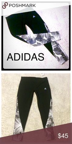 Adidas Workout Leggings NWT black and white leggings adidas Pants Track Pants & Joggers