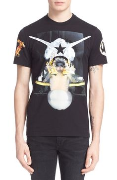 GIVENCHY Collage Print T-Shirt. #givenchy #cloth #