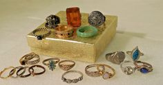 21 VINTAGE Jewelry RINGS, Cocktail, Mood Ring, Toe Rings, & Much More #Various