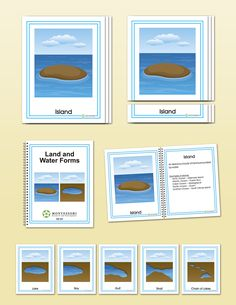 Land and Water Forms Early Childhood  Land forms represented:     Island     peninsula     archipelago     cape     isthmus  Water forms represented:     Lake     gulf     bay     strait     chain of lakes
