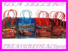 12 PC Disney Cars Goodie Gift Bags Party Favors Candy Pixar Treat Birthday Bag | eBay. Braylon's favor bags!