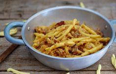Pasta fresca cavolfiore, salsiccia e capuliato - Ricette Blogger Riunite