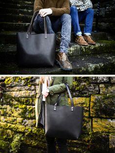 Black Leather Tote HUGE SALE   Leather Bag by PortlandLeather