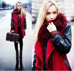 European Zipper Spell Leatheroid Sleeve Long Thick Coats --- Banggood.com Free Shipping!