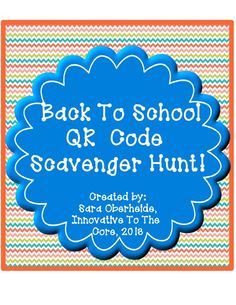 Back to School QR code scavenger hunt to get your kids excited about their new classroom! Students will scan the QR code, then learn where items are located around your classroom.  Kids will have SO much fun!