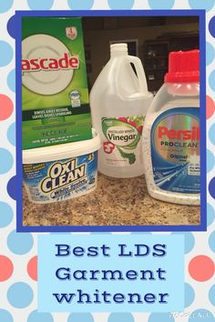 Best Garment Whitener that I couldn't resist to share!!! *Combine 48oz powder Cascade with 3lb box of Oxi Clean White Revive (Mix all together, store in a container ) To wash: Fill a kitchen sink or plastic storage container with hot water and add 1 cup of Cascade/Oxi mix, 1 capful of the Persil Pro-White Technology Power Pearls and 1 cup of white vinegar. Let garments or any white items soak over night or several hours. (I like to give them a few stirs). Drain and finish in a rinse cycle!