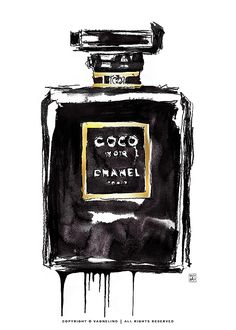 Art print made by swedish artist VAGNELIND - COCO CHANEL