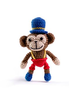 Timi the monkey by Lia Arjono - book Amigurumi Circus - www.amigurumipatterns.net