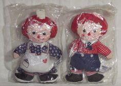 "Raggedy Ann / Andy Vintage Knickerbocker Dolls C54 ROC  Sealed NIB 7"" Free Ship* #Dolls"