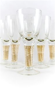 Natural Seagrass Wine Glasses - Set of 6