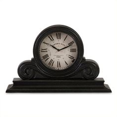 IMAX Corporation Windsor Mantle Clock (€100) ❤ liked on Polyvore featuring home, home decor, clocks, roman numeral clock, mantel-clock and mantel clocks