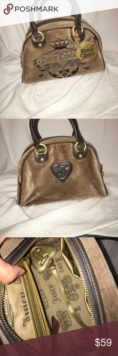 Juicy couture purse Great condition!! Slight markings on the suede but they look like the pattern that suede makes so they're not very noticeable! See pictures!! Juicy Couture Bags