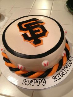 Sf Giants cake - love that twisted rope.