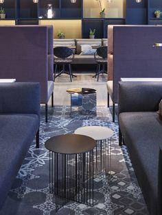 Business Lounge at Stavanger Airport Sola, designed by Metropolis arkitektur & design. Photo: Ragnar Hartvig. www.metropolis.no