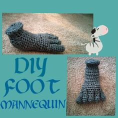 I wanted my own #display #mannequin  #foot and so I #made my own #DIY #crochet #adult #size #art #creative #easy #fun #grey #toes