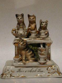 Victorian Fairing Five OClock Tea Conta Boehme German Fairing Rare | eBay