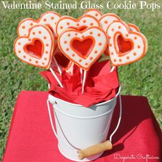 Valentine Stained Glass Cookie Pops