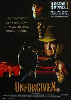 Sin perdón (1992) de Clint Eastwood #poster #pelicula (http://ultracuerpos.com/fichas/sin-perdon-unforgiven-1992-clint-eastwood/) #pelicula
