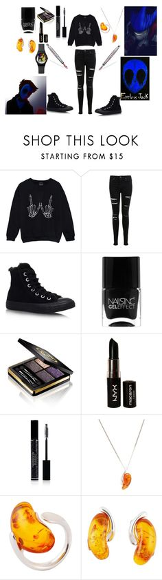 """""""****Eyeless Jack Cosplay****"""" by the-girl-of-sorrows-123 ❤ liked on Polyvore featuring Miss Selfridge, Converse, Nails Inc., Gucci, NYX, Christian Dior, Be-Jewelled and kidneyshapedjewelry"""