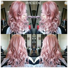 I think maybe a little too pinkish. Instagram media by bescene - PASTEL ROSEBLONDE! I used @Schwarzkopfusa Igora Royal 9.5-22, 9.5-18 I love using #Schwarzkopf for these tones because when they fade. The blonde that is exposed has a beautiful blush tone to them! @_sarahjin is styled by @maayanbescene #BESCENE