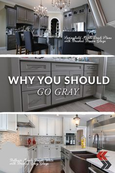 Gray has become one of the most popular neutral shades in cabinet design. Cheap Kitchen Cabinets, Painting Kitchen Cabinets, Kitchen Redo, Kitchen Design, Kitchen Ideas, Kitchen Furniture, Gray Cabinets, Kitchen Colors, Home Renovation