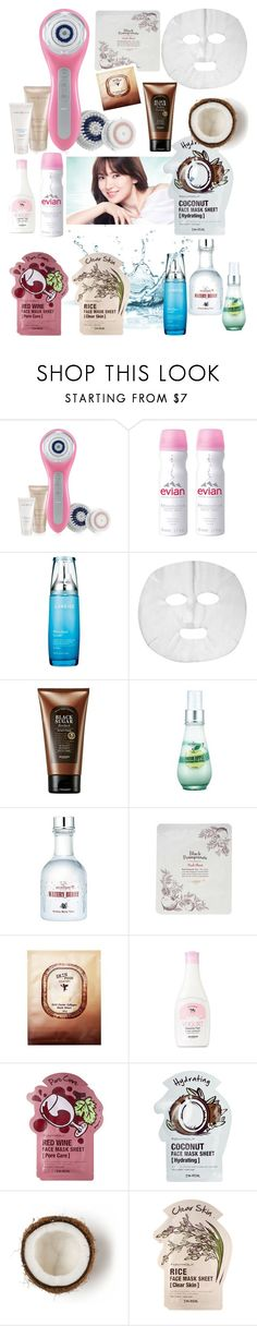 """""""Face Masks"""" by heejin434 ❤ liked on Polyvore featuring beauty, Clarisonic, Evian, Laneige, Skinfood, Tony Moly and facemasks"""