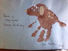 Dog handprint birthday 2014