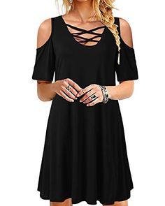 Femmes Cravate Noire Épaule Jersey-Tablier moulante Mini robe avec T-shirt Top