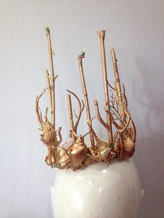 Mermaid crown  - made from real sea shell and plastic wood decorated with crystal - very light weight  - suit for party and every occassion