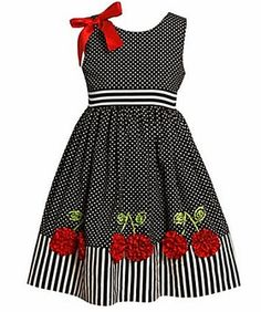 Girl Dress - Dot Cherries 2T