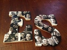 Photo Idea for Couples, Siblings, parents, ect. Collect pictures and Paste on to Letters for a cute collage Idea!