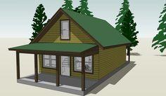 Cottage Plan: 860 Square Feet, 2 Bedrooms, 1 Bathroom - 028-00065
