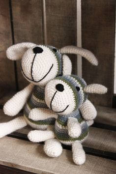 Amigurumi Crochet Dog  Dad and son by WeeWoollyThings on Etsy, £25.00
